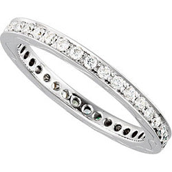 Style 102271: Prong Set Anniversary Band With 1.3mm Round Diamonds