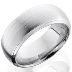 Style 103722: Cobalt Chrome 8mm Domed Band with Beveled Edges