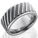 Style 103507: Titanium 10mm Flat, Spinner Band with Helical Pattern