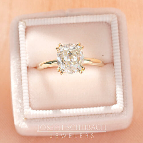 Stone Detail - Scottsdale Solitaire Engagement Ring with a Double Four Prong Head