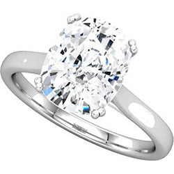 Style 102259: Radiant Shaped Cathedral Solitaire Engagement Ring