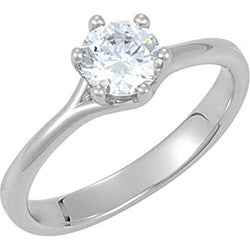 Style 102265: Round Six Prong Solitaire Engagement Ring