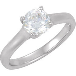 Style 102261: Round Bypass Solitaire Engagement Ring