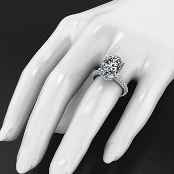 Style 103324: The Blake Engagement Ring With Round Pave Diamonds
