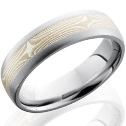 Style 103647: Cobalt Chrome 6mm Domed Band with 3mm Mokume