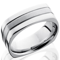 Style 103759: Cobalt Chrome 8mm Flat, Square Band