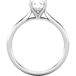 Solitaire Engagement Ring - Four Prong Cathedral (Style 102232)