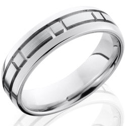 Style 103652: Cobalt Chrome 5mm Domed Band with Box Pattern