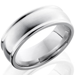 Style 103762: Cobalt Chrome 8mm Domed Band with Rounded Edges