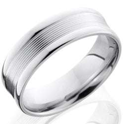 Style 103688: Cobalt Chrome 7mm Band with Rounded Edges