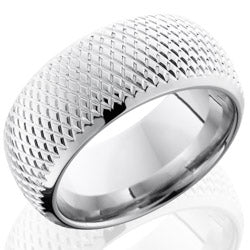 Style 103629: Cobalt Chrome 10mm Domed Band with Knurl Pattern