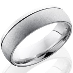 Style 103671: Cobalt Chrome 7mm Domed Band