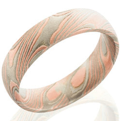 Style 103843: Mokume 5mm Domed with PD, SS