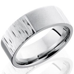 Style 103735: Cobalt Chrome 8mm Flat Band with Segmented Pattern