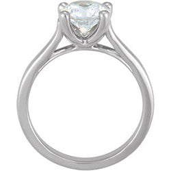 Style 102260: Round Cathedral Solitaire Engagement Ring
