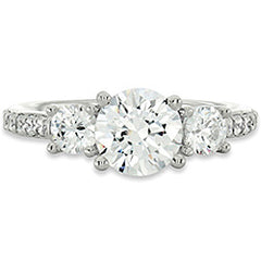 Style 102249-6mm: Round Three Stone Ring With Diamond Side Stones