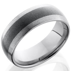 Style 103857: Ceramic and Tungsten 8mm Domed Band