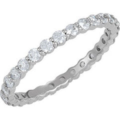 Style 102266: Shared Prong Anniversary Band With 2mm Round Diamonds