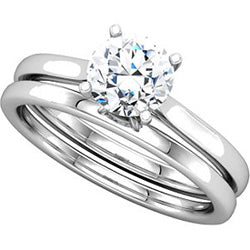 Four Prong Cathedral Solitaire Engagement Ring - Top