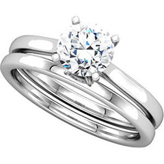 Four Prong Cathedral Solitaire Engagement Ring