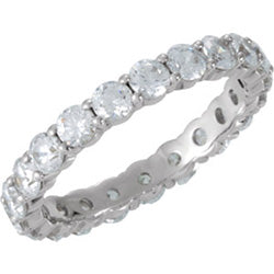 Style 102267: Shared Prong Anniversary Band With 3mm Round Diamonds