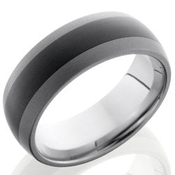 Style 103856: Ceramic and Tungsten 8mm Domed Band