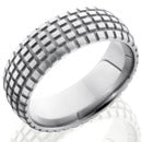 Style 103552: Titanium 8mm Domed Band with Tire Tread Pattern