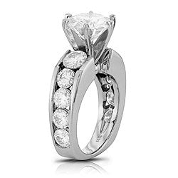 Style 102024: Channel Set Round Engagement Ring With A European Shank