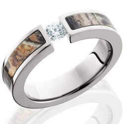 Style 103986: Titanium 5mm Flat Band with 3mm of Realtree AP Camo