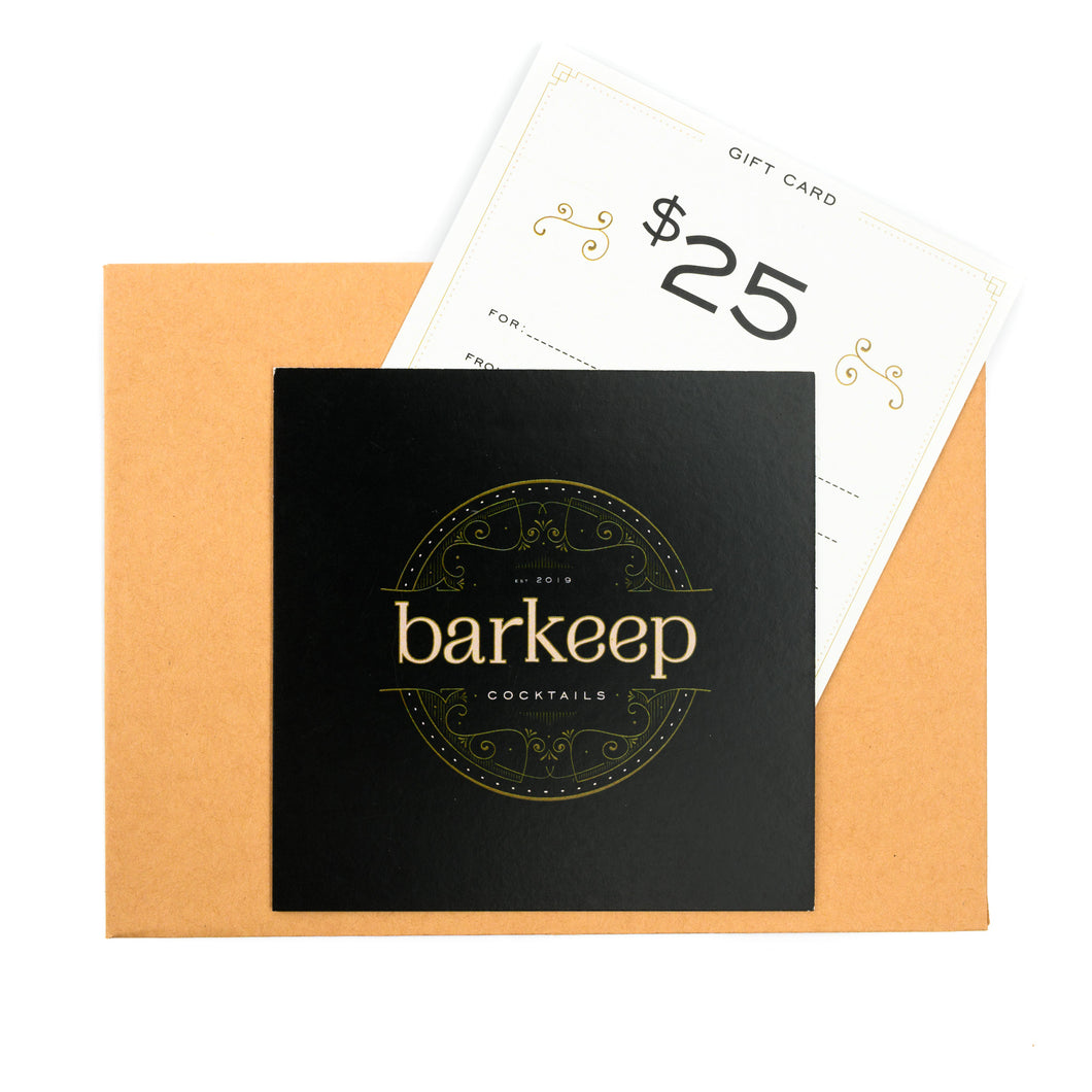Barkeep Cocktails $25 Gift Card