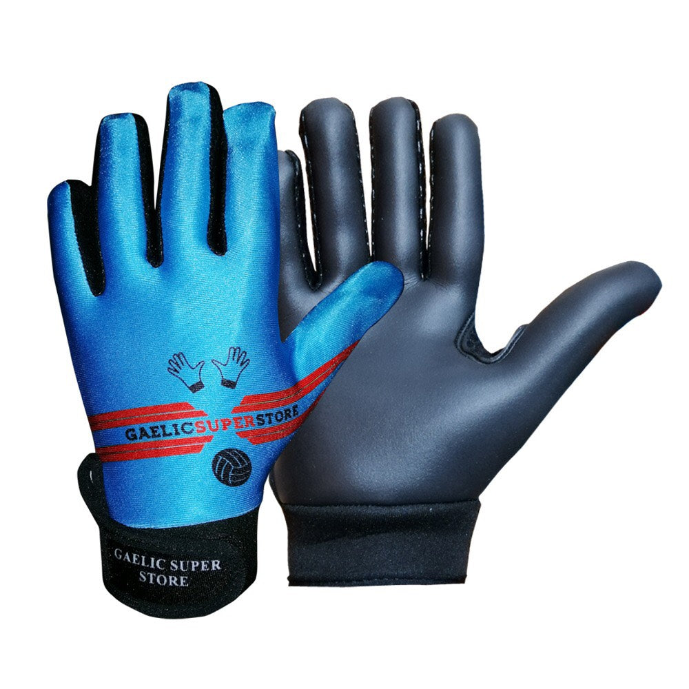 Blue Gaelic Gloves