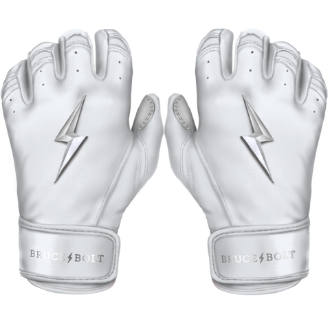 BRUCE BOLT 2021 CHROME SERIES SHORT CUFF BATTING GLOVES WITH STORAGE BAG