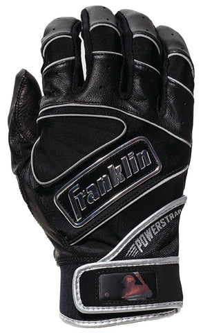 FRANKLIN POWERSTRAP CHROME BATTING GLOVES