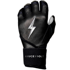 BRUCE BOLT 2021 YOUTH CHROME SERIES LONG CUFF BATTING GLOVES WITH STORAGE BAG