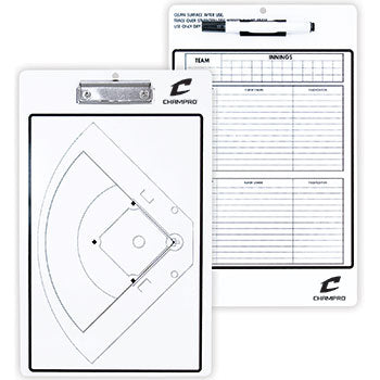 CHAMPRO BASEBALL / SOFTBALL COACH'S BOARD - DRY ERASE WITH MARKER