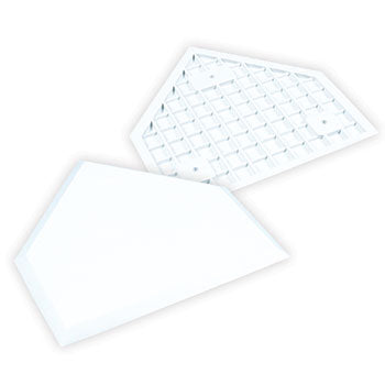 CHAMPRO WHITE MOLDED RUBBER HOME PLATE