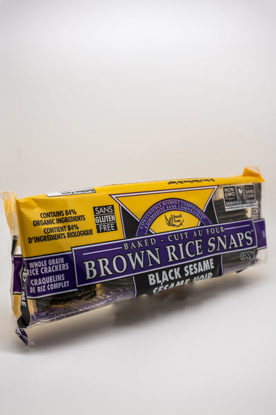 OG Edwards + Sons Brown Rice Crips Black Sesame