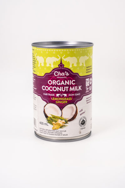 Cha's Organic Full Cream Coconut Milk