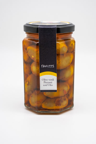 Favuzzi Hot Green Olives in Oil