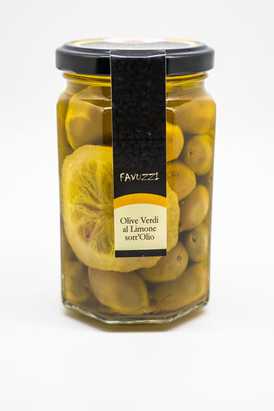 Favuzzi Green Olives with Lemon