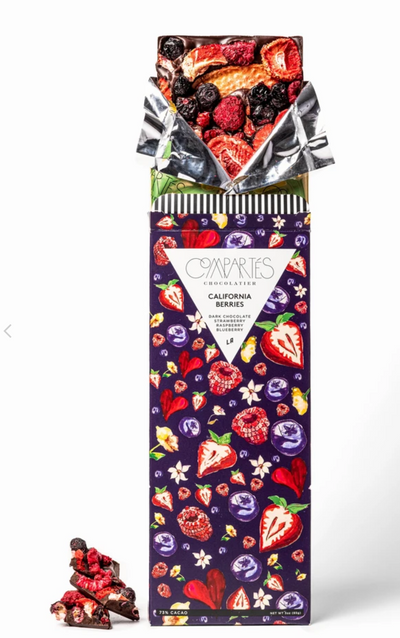 Compartes Chocolate Bar California Berries