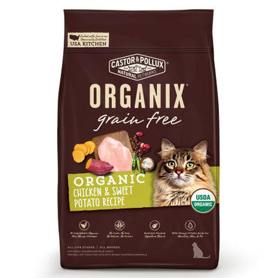 Castor + Pollux Organix Cat Grain free Chicken + Sweet Potato Recipe