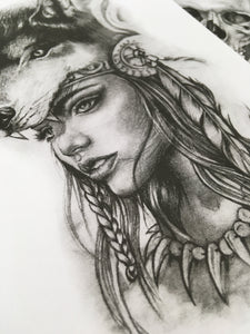 chicano girl face tattoo design high resolution download