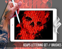 Load image into Gallery viewer, KEAPS Lettering Set // Brushes for Procreate