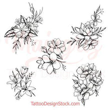 Load image into Gallery viewer, mandala oriental flowers designs for woman tattoo sleeve