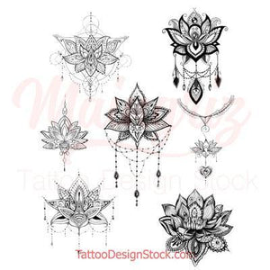 amazing lotus mandala tattoo design high resolution download