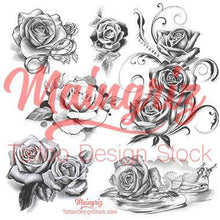 Load image into Gallery viewer, 20 amazing realistic roses tattoo design high resolution download