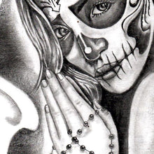 Load image into Gallery viewer, santa muerte skull tattoo references in instant download