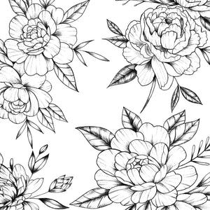 60 peony tattoo brushes for procreate app ipad pro by brushestock