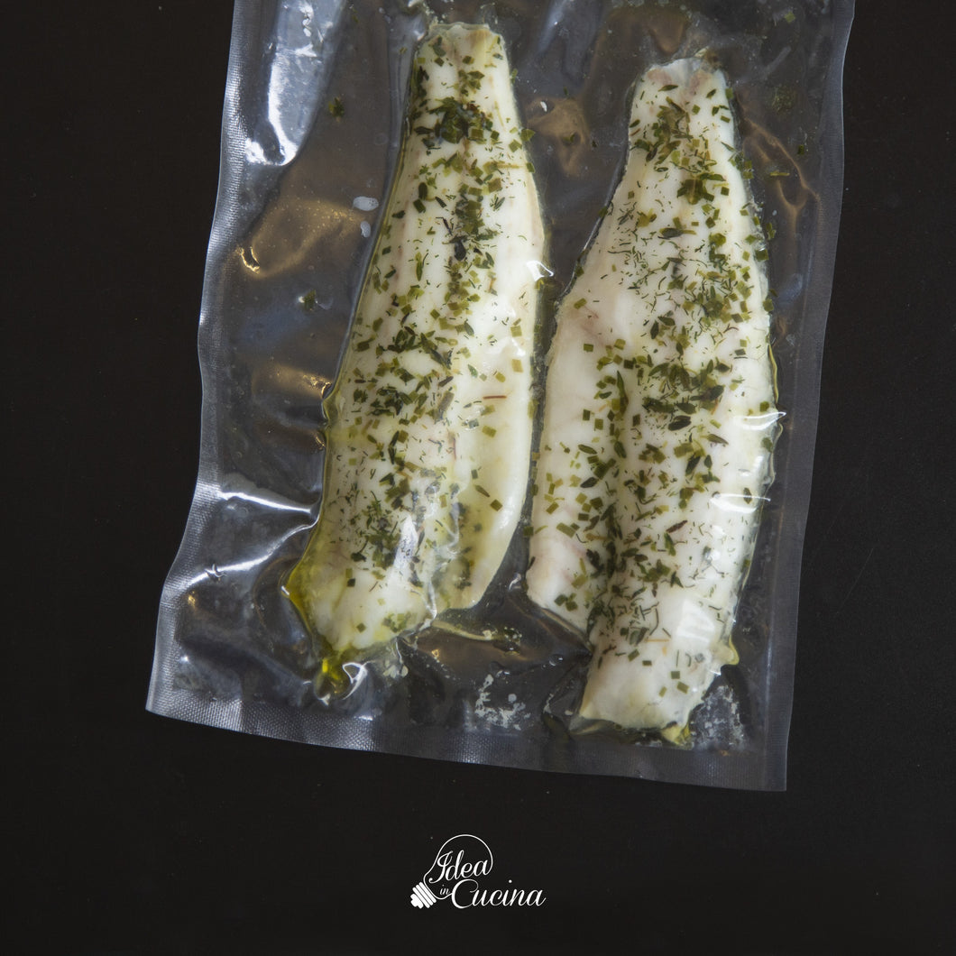 Filetto di branzino alle erbe aromatiche (2 filetti)